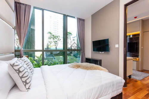 For rent, Condo Wish Signature Midtown Siam, Pool and garden view, near BTS Ratchathewi