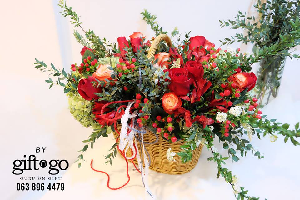 Red is for passion - All Occasions Flowers & Gifts by GiftnGo.Gift