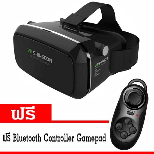 ขาย VR SHINECON แว่นสามมิติ Virtual Reality Headset 3D Glasses ฟรี Bluetooth Controller Gamepad